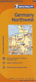 Michelin Germany Northwest Map 541 (Maps/Regional) Cover