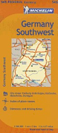 Michelin Germany Southwest Map 545 (Maps/Regional) Cover