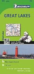 Michelin Maps #173: Michelin Great Lakes Map