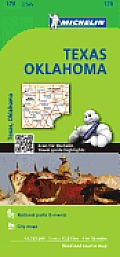 Michelin Maps #176: Michelin Texas, Oklahoma Map