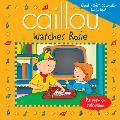 Caillou Watches Rosie With Good Habits Calendar