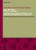Mittelhochdeutsch: Beitrage Zur...