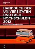 Handbuch Der Universit Ten Und Fachhochschulen 2012: Deutschland, Sterreich, Schweiz