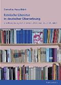 Estnische Literatur in Deutscher Übersetzung
