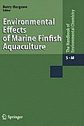 Environmental Effects of Marine Finfish Aquaculture