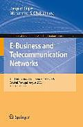 Communications in Computer and Information Science #9: E-Business and Telecommunication Networks: Third International Conference, Icete 2006, Setabal, Portugal, August 7-10, 2006, Selected Papers