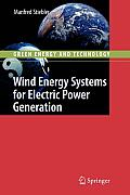 Wind Energy Systems for Electric Power Generation (Green Energy and Technology) Cover