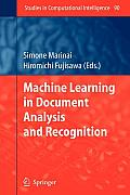 Studies in Computational Intelligence #90: Machine Learning in Document Analysis and Recognition