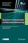 Lecture Notes of the Institute for Computer Sciences, Social #36: Quantum Communication and Quantum Networking: First International Conference, Quantumcomm 2009, Naples, Italy, October 26-30, 2009, Re Cover