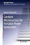 Catalytic Microreactors for Portable Power Generation (Springer Theses) Cover