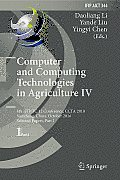 Computer and Computing Technologies in Agriculture IV: 4th Ifip Tc 12 Conference, Ccta 2010, Nanchang, China, October 22-25, 2010, Selected Papers, Pa