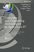 Computer and Computing Technologies in Agriculture IV: 4th Ifip Tc 12 International Conference, Ccta 2010, Nanchang, China, October 22-25, 2010, Selec