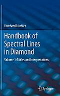 Springer Series in Materials Science #150: Handbook of Spectral Lines in Diamond: Volume 1: Tables and Interpretations