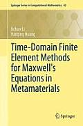 Time-Domain Finite Element Methods for Maxwell's Equations in Metamaterials