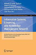 Information Systems, E-Learning, and Knowledge Management Research: 4th World Summit on the Knowledge Society, Wsks 2011, Mykonos, Greece, September 2