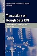 Transactions on Rough Sets XVI