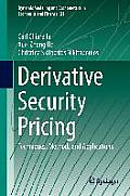 Dynamic Modeling and Econometrics in Economics and Finance #21: Derivative Security Pricing: Techniques, Methods and Applications