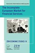 Zew Economic Studies #19: The Incomplete European Market for Financial Services