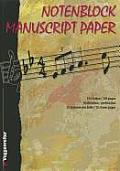 Notenblock Manuscript Paper