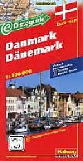 International Folded Map-Hallwag Denmark (Disto)