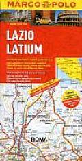 Lazio Latium (Marco Polo Maps)