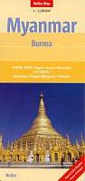 Myanmar Burma Map