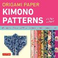 "Origami Paper Kimono Patterns Small 6 3/4"" Cover"