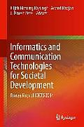 Informatics and Communication Technologies for Societal Development: Proceedings of Icicts 2014