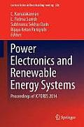 Lecture Notes in Electrical Engineering #326: Power Electronics and Renewable Energy Systems: Proceedings of Icperes 2014