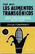 Que Son Los Alimentos Transgenicos