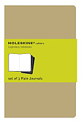 Cahier Pocket Plain Notebook: Set of Three (Brown) Cover