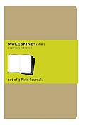 Moleskine Plain Cahier XL Kraft Set of 3