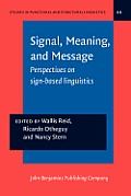 Signal, meaning, and message