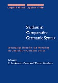 Studies in comparative Germanic syntax
