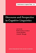 Discourse and perspective in cognitive linguistics
