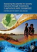 Assessing the Potential for Poverty Reduction Through Investments in Agricultural Water Management: A Methodology for Country Level Analysis [With CDR