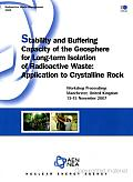 Radioactive Waste Management Stability and Buffering Capacity of the Geosphere for Long-term Isolation of Radioactive Waste Application to Crystalline Rock: Application to Crystalline Rock