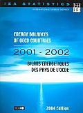 Energy Balances Of OEDC Countries / Bilans Energetiques Des Pays De L'OCDE