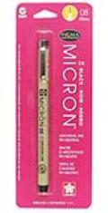 Sakura Pigma Micron Pen Black .50MM Carded 08