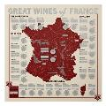 Great Wines of France: Unique Wine-Tasting Map