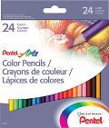 Pentel Colored Pencils 24 Set