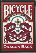Playing Cards Bicycle Dragon Red