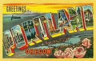 Greetings from Portland, Oregon Postcard