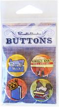 Powells Books Denim Button Pack