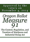 Oregon Ballot Measure 91 Large Green Cover