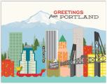 Portland Greetings Boxed Blank Notes 4 Bar The Found
