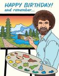 Card Single Bob Ross Birthday The Found