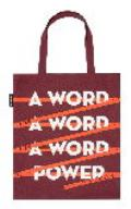 Word is Power Red Tote Bag