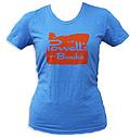 Powell's Blue Womens Oregon T-Shirt (Large)