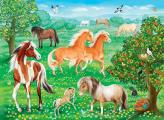 Mustang Meadow 60 PC Puzzle